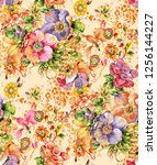 abstract colorfull pattern with ... | Shutterstock . vector #1256144227