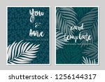 card templates leaf... | Shutterstock .eps vector #1256144317