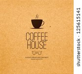menu for restaurant  cafe  bar  ... | Shutterstock .eps vector #125615141