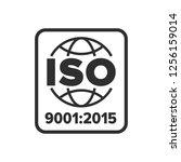 iso 9001 certified symbol | Shutterstock .eps vector #1256159014