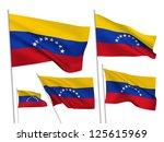 venezuela vector flags set. 5... | Shutterstock .eps vector #125615969