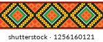 colored embroidery border.... | Shutterstock .eps vector #1256160121