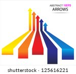 colored arrows vector | Shutterstock .eps vector #125616221