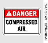"plate  ""danger. compressed air"".... | Shutterstock .eps vector #1256179147"