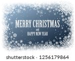 christmas greting card with...   Shutterstock .eps vector #1256179864