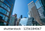 commercial buildings in... | Shutterstock . vector #1256184067
