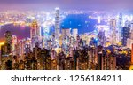 Hong Kong Skyline and City Nightscape