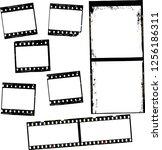 photographic film  film stripes ... | Shutterstock .eps vector #1256186311