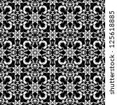 vector seamless white and black ...   Shutterstock .eps vector #125618885