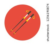 skiing poles flat icon. you can ... | Shutterstock .eps vector #1256190874