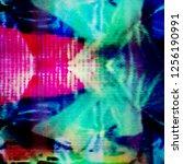 analog tv glitch background... | Shutterstock . vector #1256190991