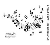 vector musical notes vector...   Shutterstock .eps vector #125619575