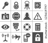 security and warning icons.... | Shutterstock .eps vector #125619797