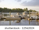 small yachts and fishing boats... | Shutterstock . vector #12562024