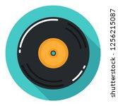vector vinyl record music icon. ... | Shutterstock .eps vector #1256215087