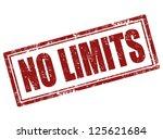 no limit grunge rubber stamp... | Shutterstock .eps vector #125621684