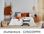 copy space on white empty wall... | Shutterstock . vector #1256220994