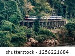 train ride s on burma  railway  ... | Shutterstock . vector #1256221684