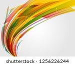 glossy lightning backdrop... | Shutterstock .eps vector #1256226244