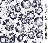 gorgeous seamless pattern with... | Shutterstock . vector #1256229424