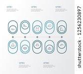 garment icons line style set... | Shutterstock .eps vector #1256230897