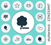 eco friendly icons set with... | Shutterstock .eps vector #1256233447