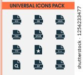 file icons set with psd  zip ... | Shutterstock .eps vector #1256233477