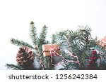 christmas composition flat lay  ...   Shutterstock . vector #1256242384