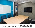 conference room with television ... | Shutterstock . vector #1256262451