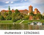 Wawel Castle On Sunny Day In...