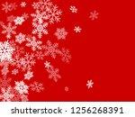 winter snowflakes border cool... | Shutterstock .eps vector #1256268391