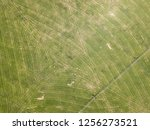 birds eye view of farmland with ... | Shutterstock . vector #1256273521