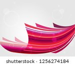 red abstract web background.... | Shutterstock .eps vector #1256274184