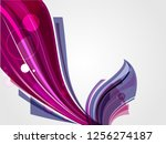 abstract futuristic shape with... | Shutterstock .eps vector #1256274187