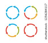 circle arrows steps. processes... | Shutterstock . vector #1256284117