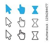 arrow web cursors. arrow cursor ... | Shutterstock . vector #1256284477