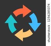 arrow reload  refresh  rotation ... | Shutterstock .eps vector #1256285374