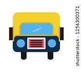 bus flat multi color icon | Shutterstock .eps vector #1256300371