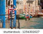 venice   italy   may 11th  2009 ... | Shutterstock . vector #1256302027