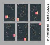 abstract trendy vector... | Shutterstock .eps vector #1256303221