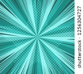 comic book page turquoise... | Shutterstock .eps vector #1256304727