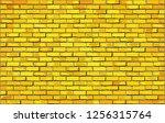 yellow brick wall  ...   Shutterstock .eps vector #1256315764