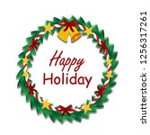 happy holiday and christmas... | Shutterstock .eps vector #1256317261
