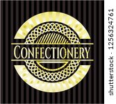confectionery gold badge or... | Shutterstock .eps vector #1256324761
