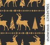 merry christmas  seamless...   Shutterstock .eps vector #1256347801