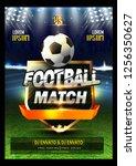 innovative design football...   Shutterstock .eps vector #1256350627