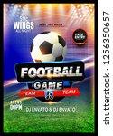 innovative design football... | Shutterstock .eps vector #1256350657