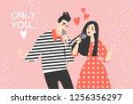 vector valentines day... | Shutterstock .eps vector #1256356297