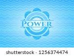 power water emblem background. | Shutterstock .eps vector #1256374474