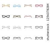 vector illustration of glasses...   Shutterstock .eps vector #1256378284